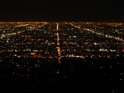 nighttime view of l.a. from the griffith