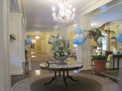 Inside of Carolina Inn. Tarheel pride at its finest.