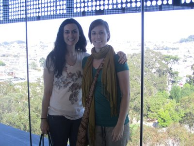 rechele and i in the de young tower