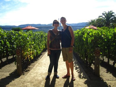 dana and i outside heitz winery