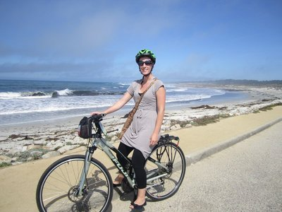 biking 17 mile drive @ spanish bay