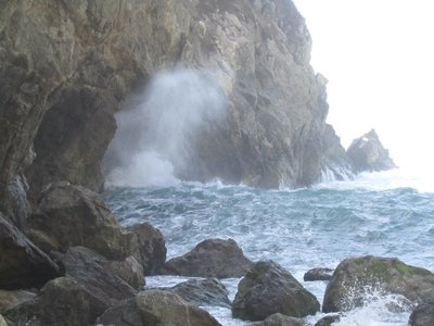 that time we got really close to the humongous waves in big sur...
