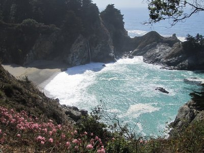 julia pfeiffer burns state park - coastal waterfall!