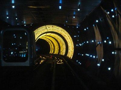 sightseeing tunnel at the bund