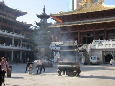 incense stuff at jingan temple