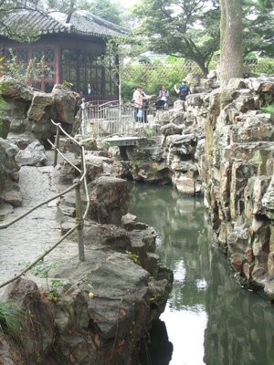 rocks and bridges at the humble administrator's garden