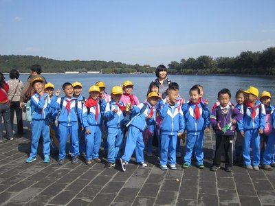 chinese explorers! look at those handkerchiefs awww.
