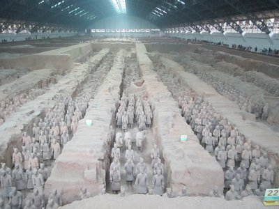 the most impressive of the 3 pits at the terra cotta warriors