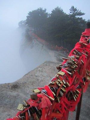 padlocks on the mountain for good luck