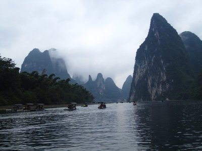 Sailing down the Li River