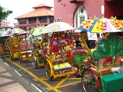 Decked out trishaws