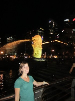 The Merlion and I, together at last.