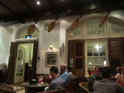 Inside the Raffles Hotel, aka where all the white people go.