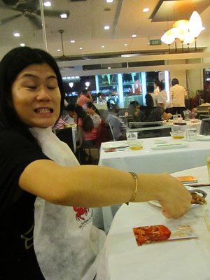 During the chili crab...
