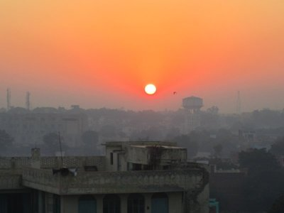 Such an amazing sunrise, even though it wasn't right above the Taj.