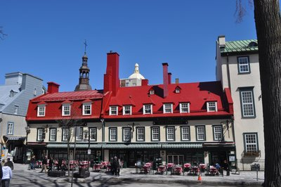 Quebec red roof