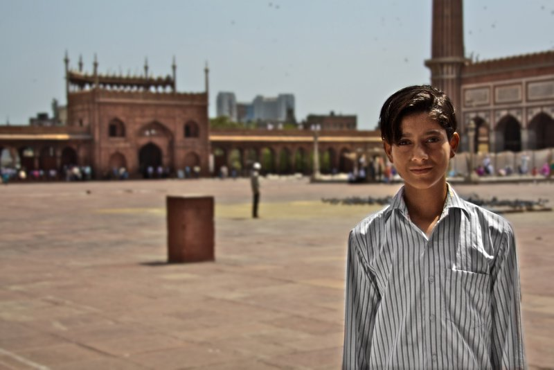 Boy at Jama Masjid
