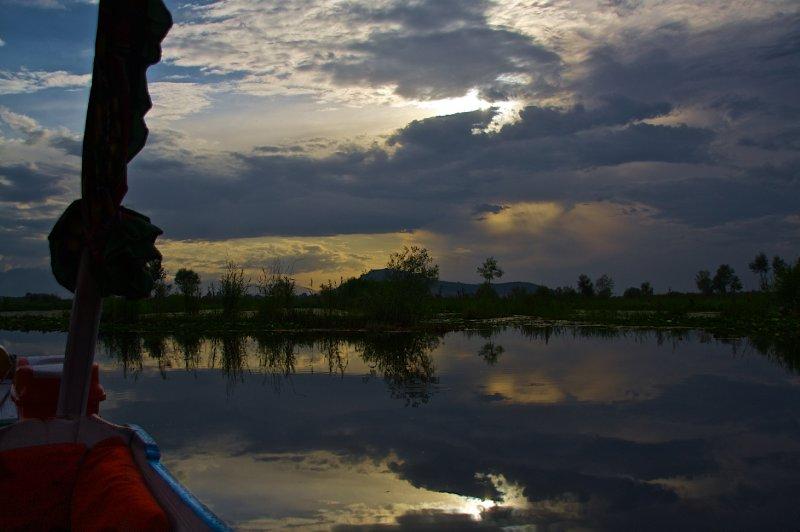 Dal Lake and Sky From Shikara