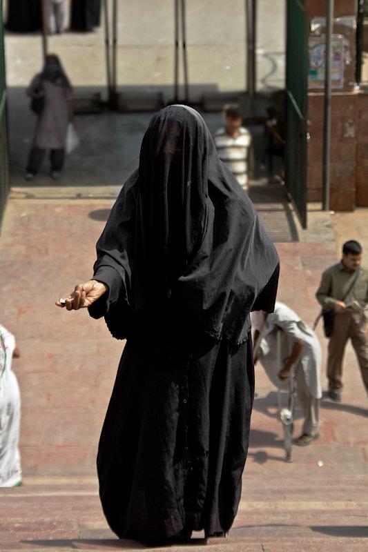 Begger outside of Jama Masjid