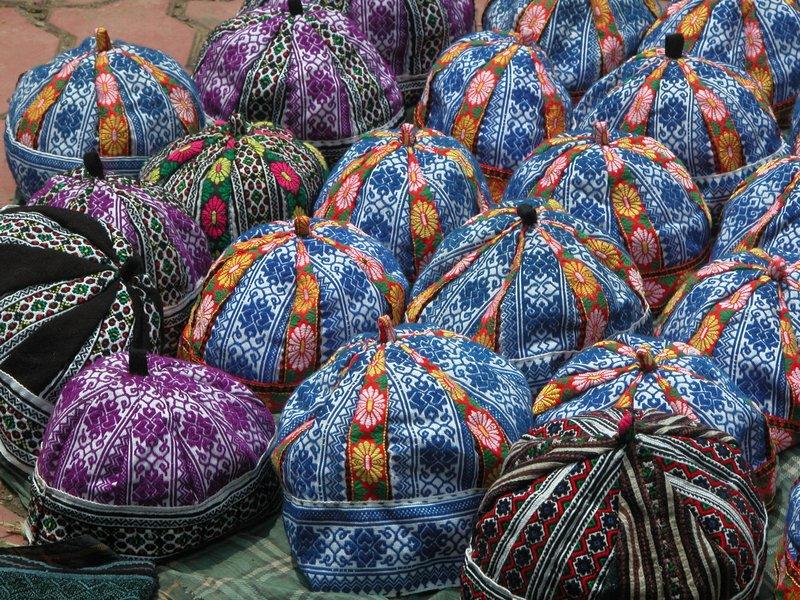 Hats of hill tribe boys - Sapa