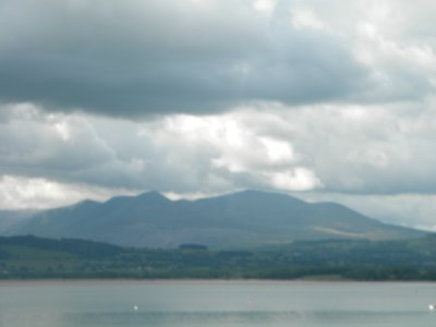 View of Snowdonia from Anglesey