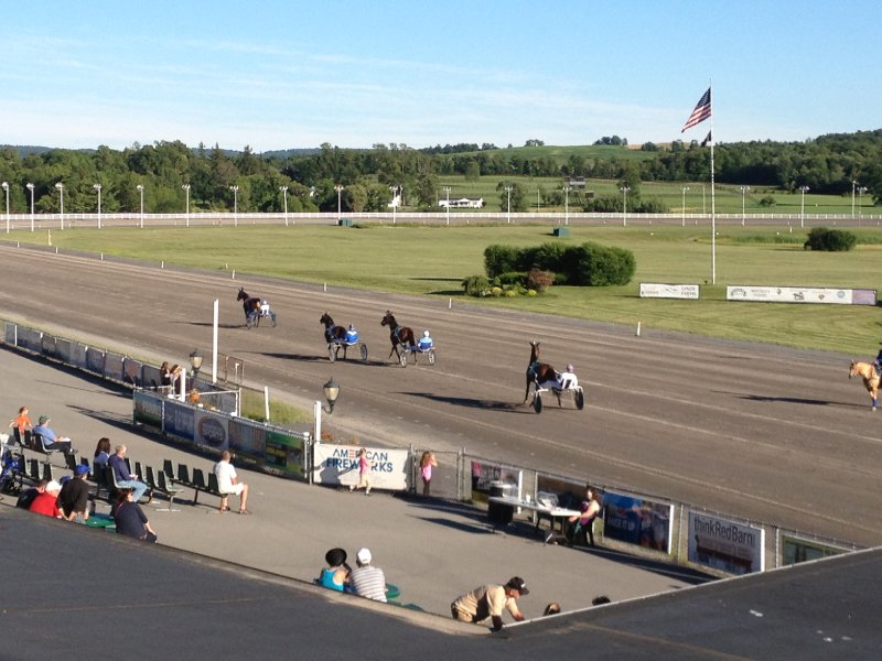 Beautiful night at race track.