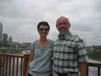 Don and I on the bridge