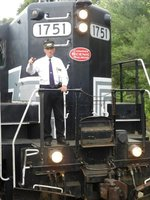 Conductor on Conway Scenic Railroad