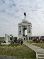 Largest monument in Gettysburg in honor of PA soldiers