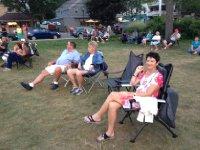 Concert in park at Sylvan Beach.
