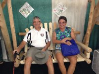 Rob and Cathy taking a break from a hard day at State Fair.