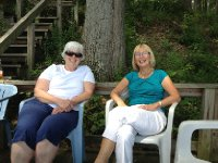 Rae and Anne enjoying the day