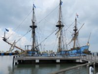 Tall ship at Cape May ferry port