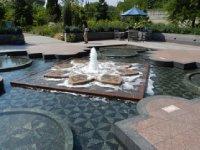 Pool at botanical garden