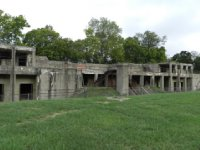 What is left of a gun battery