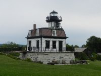 Original Lake Champlain lighthouse in her backyard.