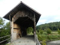 Old agriculture covered bridge from 1890