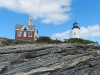 Lighthouse from down by shore.