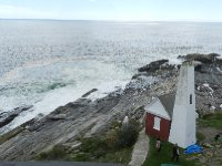 View from top of Pemaquid Lighthouse.