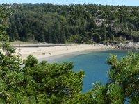 Sand Beach where water temp is 55 degrees.