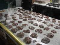 Yep, chocolate pralines.
