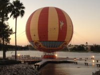 Hot air balloon at Dpwntown Disney