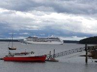 Cruise ship in Bar Harbor.