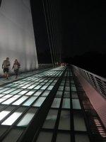 Sundial Bridge lit up at night