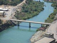 Sacramento River below the dam