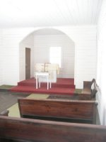 Inside the Baptist church
