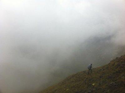 sarah in fog