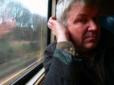 Me in train from Leuven to Hasselt