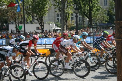 Riders in the Tour de France