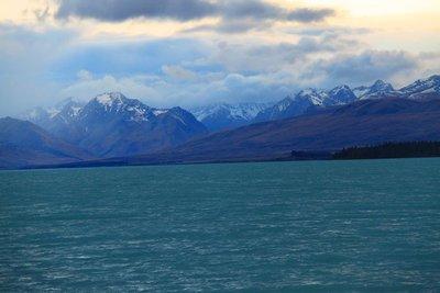 nz (354) lake tekapo view moutain
